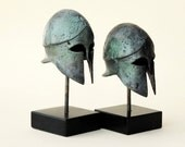 Ancient Greek Bronze Helmet, War Helmet, Bronze Metal Sculpture, Collectible Timeless Art Museum Quality Replica Art Sculpture, Historic Art