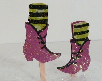 Witch Shoe Cupcake  Toppers