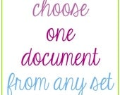 Choose One Document From Any Set