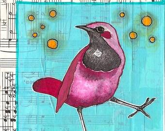 Blank greeting card: Dancing Bird