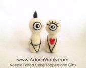 Mohawk Eye Ball Couple -  Weird Gift - AdoraWools - Christmas Gift - Stocking Stuffers - Christmas Ornament