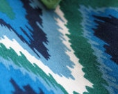 Zig Zag Pants - Size 12 Month - Green and Blue with Elastic Waist