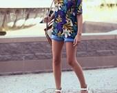 Hawaiian Print Floral Summer Shirt - Aloha Alana
