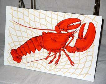 vintage 60s Lobster tray / 1960s mid century serving / Stotter platter / beach cottage/ nautical wall decor / mad men kitsch