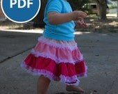 Tiers of Joy Skirt PDF Sewing Pattern - Baby, Children, Teens, and Women's Sizes Included