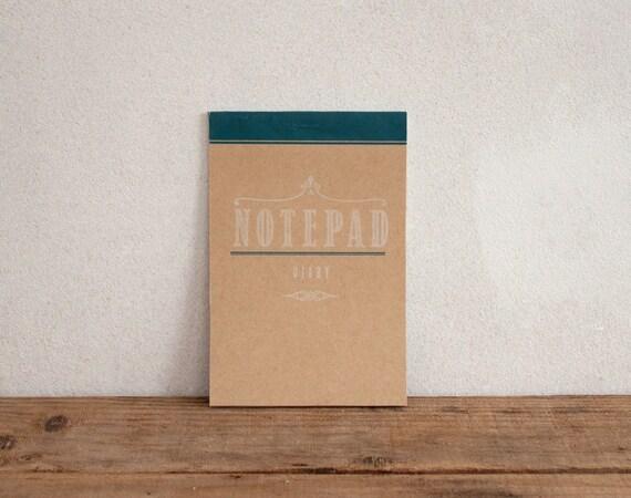 Notepad diary - blank - craft - letterpress vintage design - PAD6001