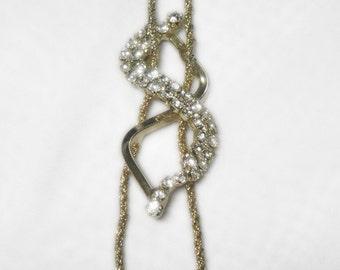 Crystal Rhinestone Necklace - Hobe Signed - 1960s