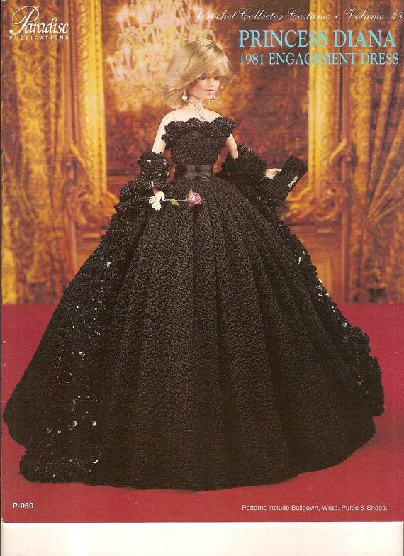 Crochet Princess Diana Engagement Dress 1981 Fashion Doll Gown