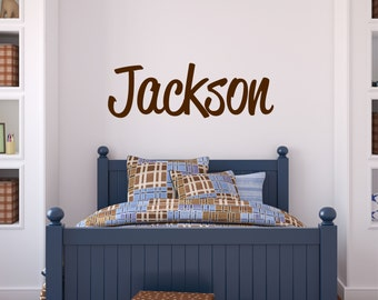 Custom Boy Name Wall Decal // Baby Boy Nursery Wall Decor // Boys Room Decor // Customized Name Decal // Childrens Wall Decor // Name Sign