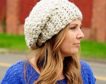 Womens Crochet Hat, Winter Hat, Slouchy Beanie Hat, Womens Fashion, Fall Fashion