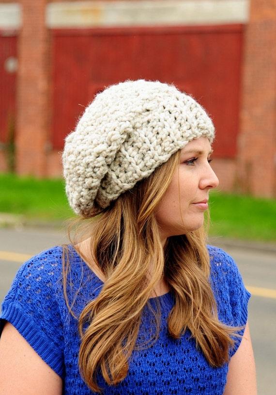 3ac7fc710e6 Womens Crochet Hat Winter Hat Slouchy Beanie by ... ➤. Free Crochet Pattern  ...