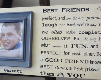 Wedding Gift Ideas For Bride From Best Friend : ... Frame Wedding Gift Groom Bride Best Friend Birthday Anniversary