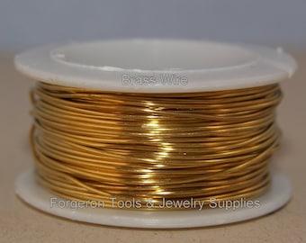 BRASS WIRE ROUND 22 Gauge 1 oz. Spool - For Wire Wrapping, Wig Jig Design, Wire Jewelry Design