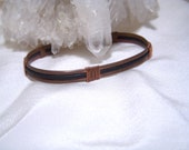 Antiqued Copper Leather Retro Cuff Bracelet Men Women Teen Boho UNISEX
