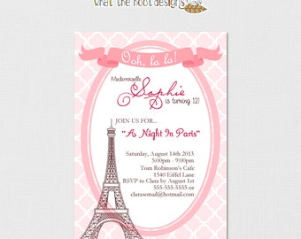 Paris Invitation - Paris Birthday Invitation - Paris Baby Shower - Paris Birthday - Paris Party - Paris Birthday Party - Printable DIY