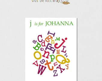 Printable Jumbled Alphabet - Personalized 8x10