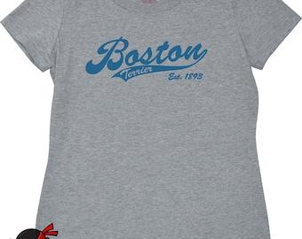 Boston Terrier t shirt for women funny gift for dog owner animal lover Boston Terrier gifts girls tshirt