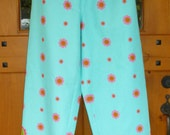 Women and teen girls 100% cotton border print pajama pants-MADE TO ORDER