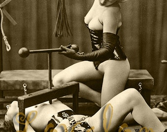 MATURE... Turn of the Screw... Deluxe Erotic Art Print... Vintage Nude Gothic Fetish Photo... Available In Various Sizes
