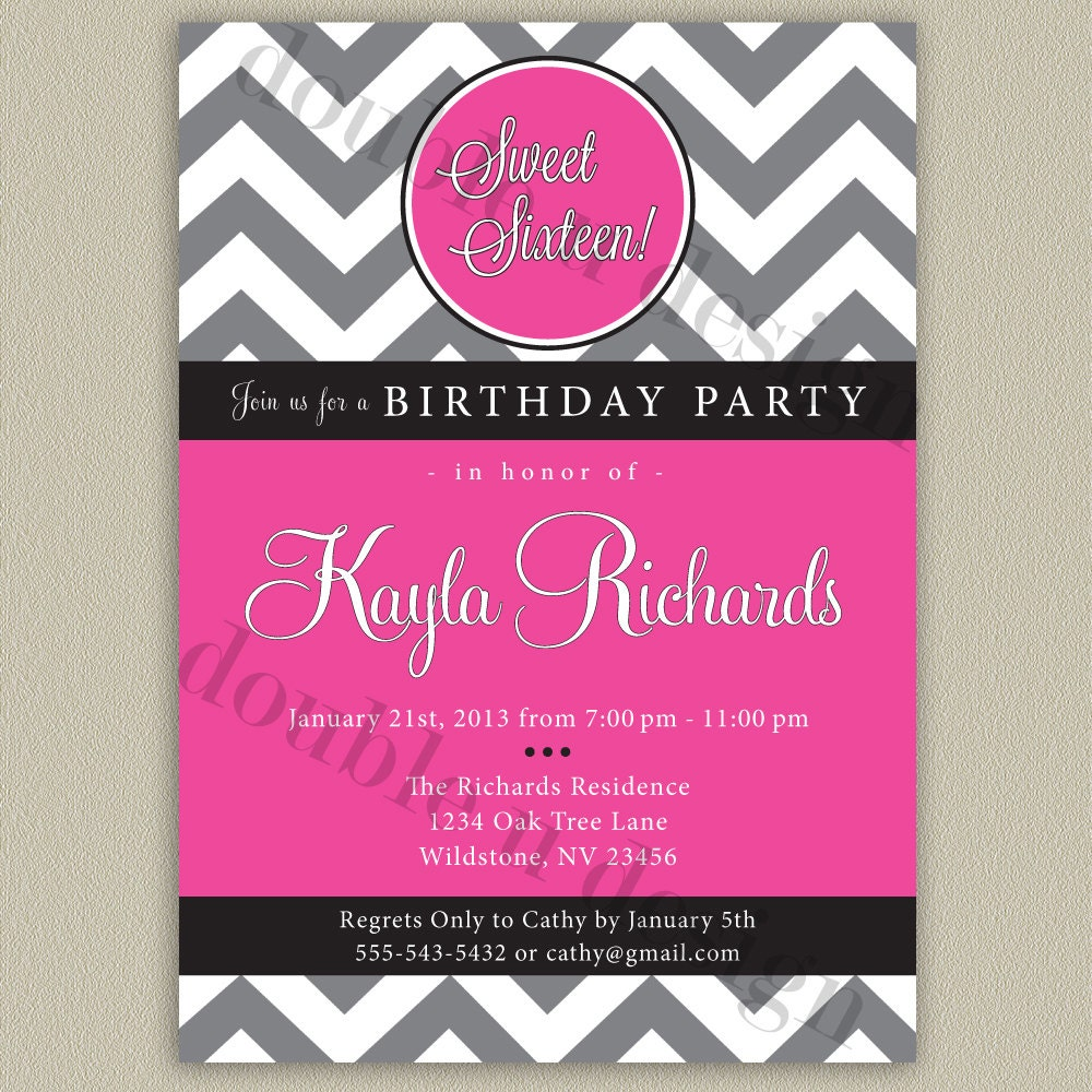 It's just a graphic of Rare Sweet 16 Birthday Invitations Free Printable