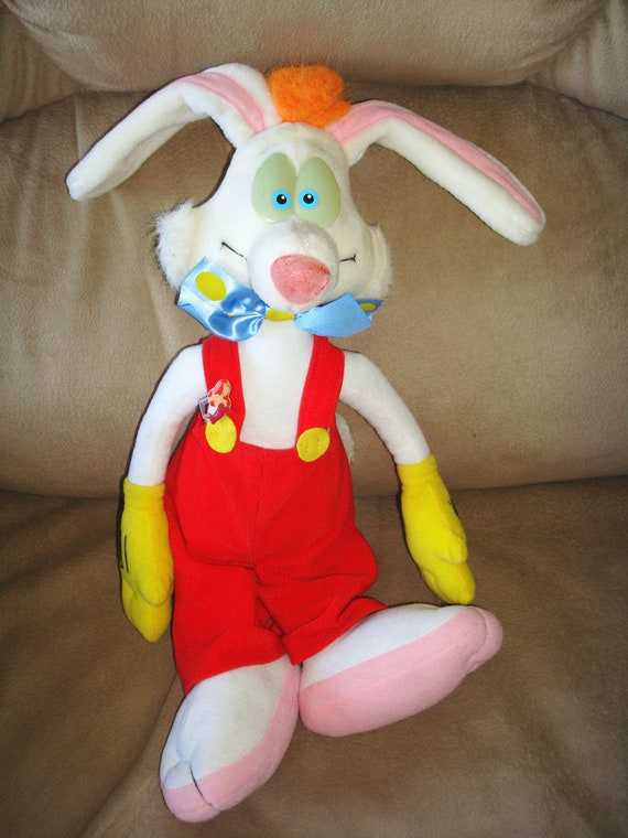 Vintage Large Roger Rabbit Talking Plush Doll By Aminaaly