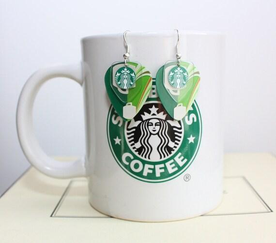 BEST SELLER STARBUCKS Earrings Handmade From Gift Card