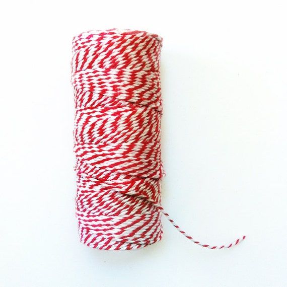 20 Yards Red Bakers Twine - Christmas Holiday Bakers Twine - Gift Wrap - Packaging