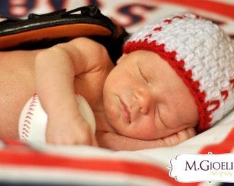 Newborn Baseball Beanie Photo Prop, baseball hat, newborn baseball hat, baby baseball hat, baseball costume