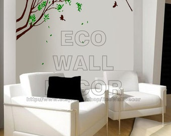 PEEL and STICK Removable Vinyl Wall Sticker Mural Decal Art - Birds on the Tree