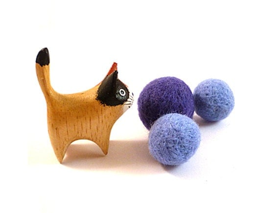 Water Molecule Wool Catnip Cat Toy