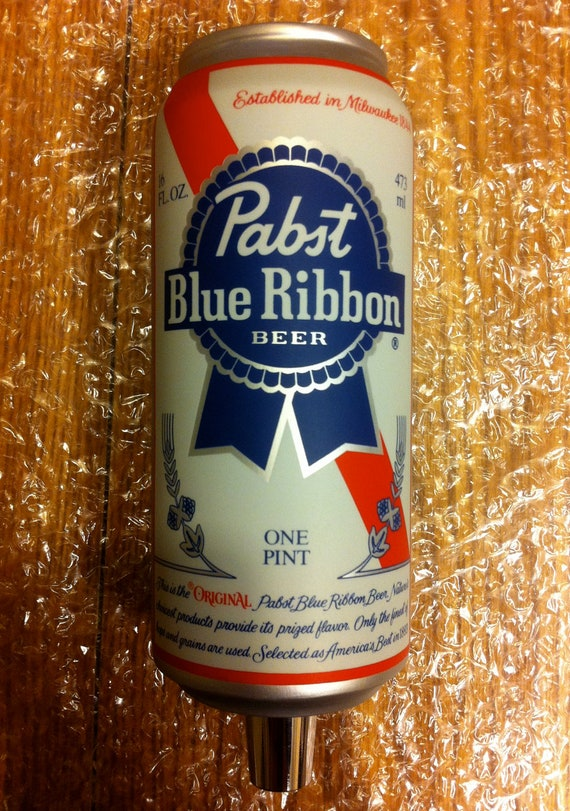 Pabst Blue Ribbon 16oz Beer Tap Handle By Minimalistcouple
