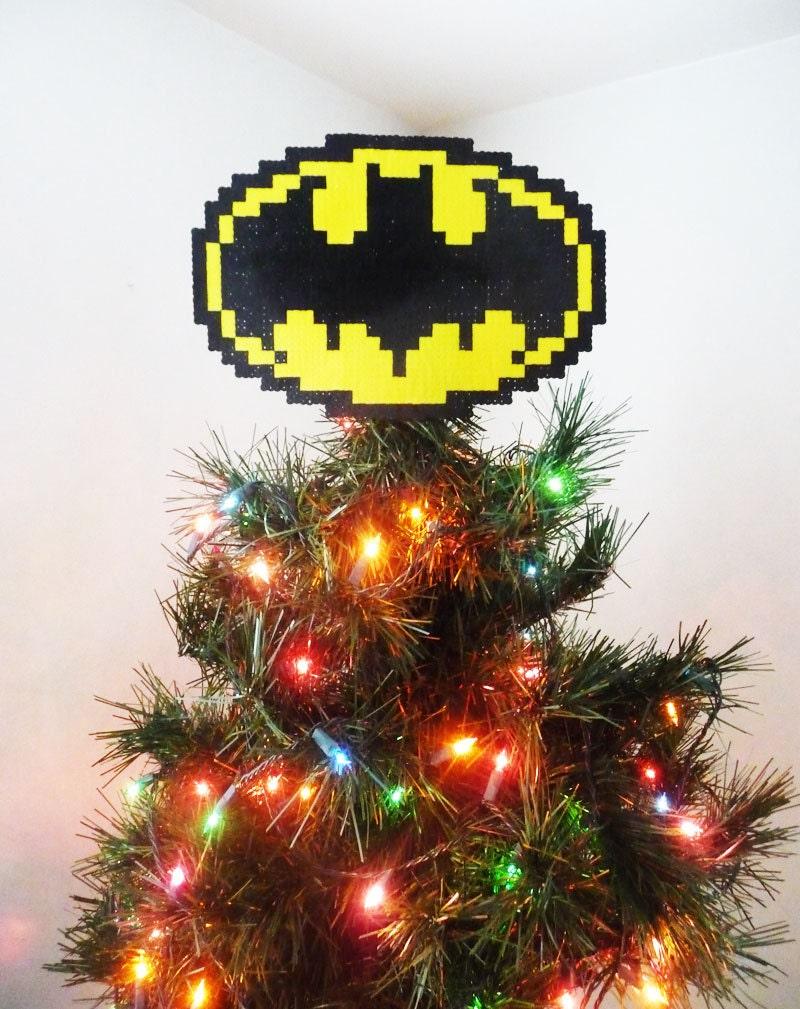 Batman christmas tree ornaments -  Batman Perler Bead Christmas Tree Topper Zoom