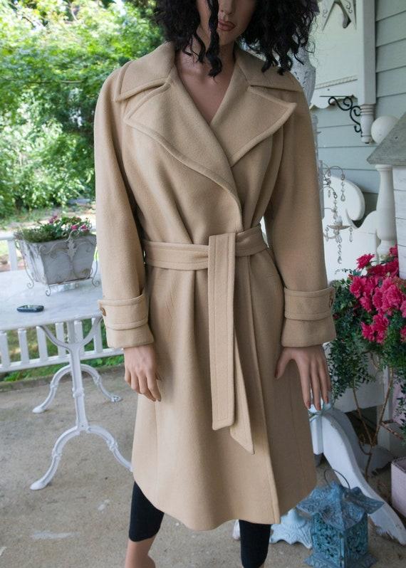 Tan Cashmere Wrap Coat