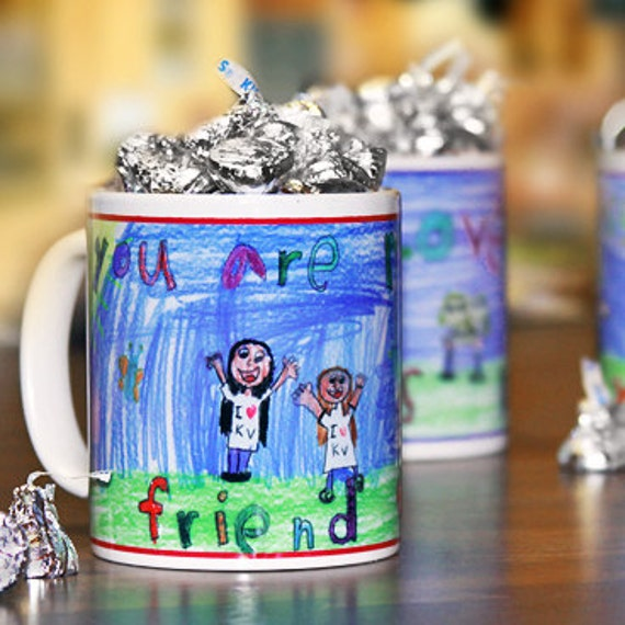 "Child's Drawing Personalized Coffee Mug, ""Little Artist"" Series : Artwork Creates a Perfect Gift for Parents, Grandparents, and Teachers"