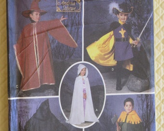 Halloween Costumes Sewing Pattern Simplicity Kids Children Capes, Tabard & Hats - New Uncut