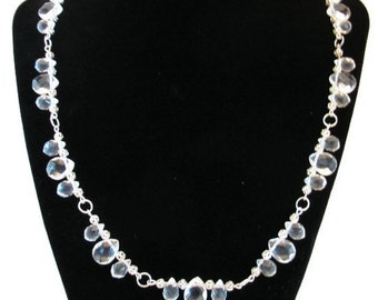 Crystal Glass Necklace (N032)