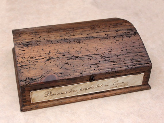 Personalized Rustic Treasure Chest - Add your own Love quote or any message. Unique design.