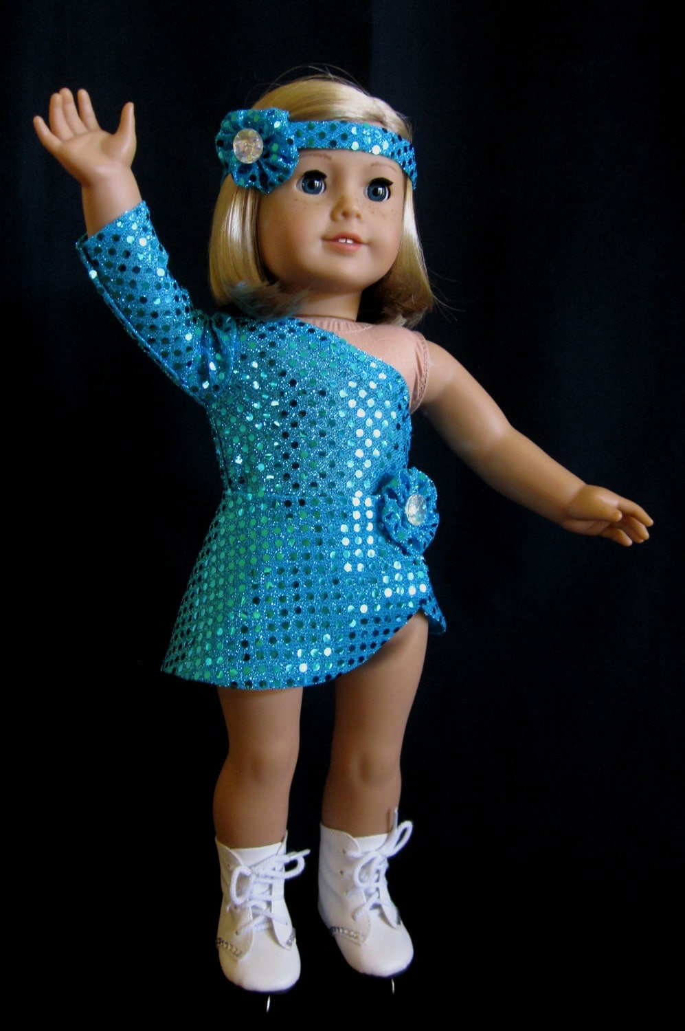 American Girl Clothes Ice Skating Costume in Turquoise