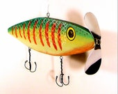 Fishing Lure Recycled Wood Art
