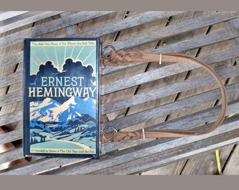 Ernest Hemingway - Custom Leather Book Purse - Made to Order