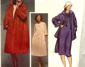 PATTERN Vogue 1492 Coat and Dress loose fit with kimono sleeves Geoffrey Beene Vogue American Designer