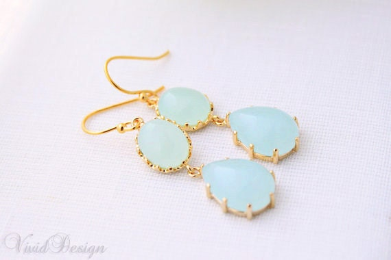 Something Blue Droplet Earrings