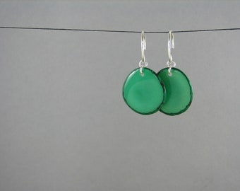 Jade Green Tagua Earrings ECO CHRISTMAS gift for her