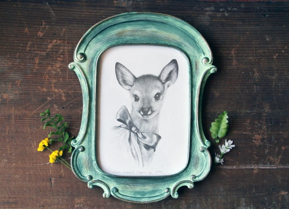 Original Fawn Illustration by BurrowingHome on Etsy