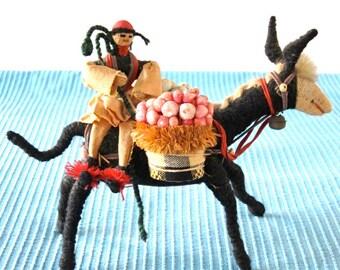 Vintage Donkey Handmade Folk Primitive Burro South America