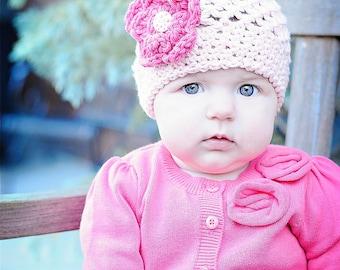 toddler girl hat, little girls hat, crochet baby hat, baby hat, girls hat, baby girl hat