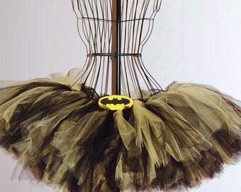 Kids, Adult, Plus Batman Like Black and Yellow Tutu