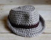 Baby Fedora, Bucket, Fisherman's Hat, Crochet Hat, Photography Prop, Photo Prop, Newborn, Boy, Girl