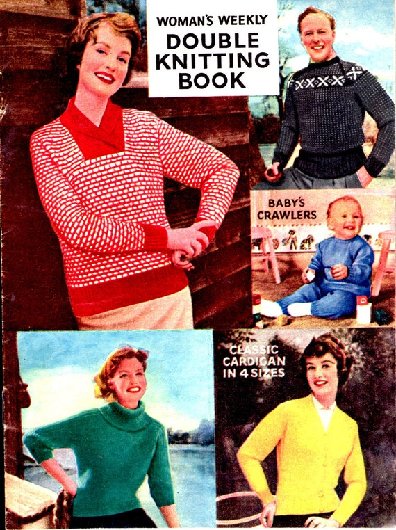 On Sale Womens Weekly Double Knitting Book 1960s Mag