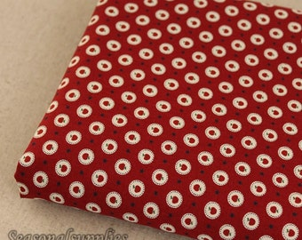 Half Meter Cotton fabric for craft,Red Apple pattern,diy,fabric(G7)
